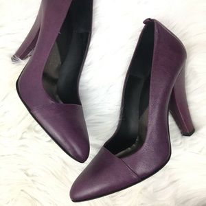 7 for all mankind leather plum pump heels
